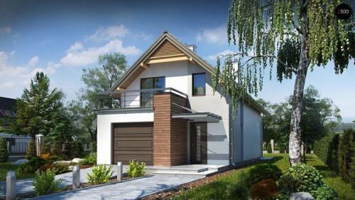 Проекты домов с мансардой с гаражом