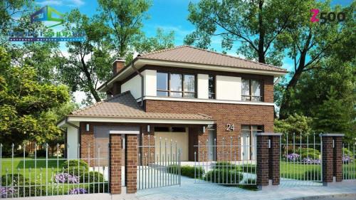 Проекты кирпичных домов с гаражом