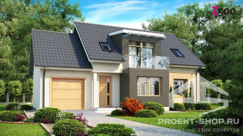 Красивые проекты домов с мансардой