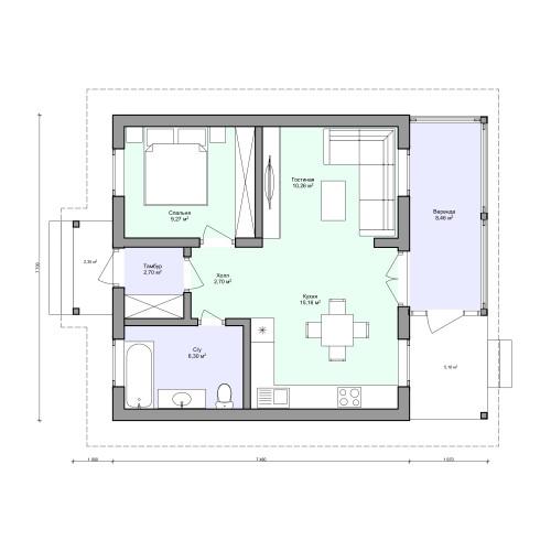Планировка проекта 2-186