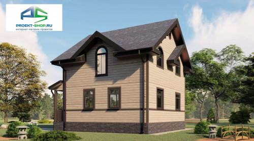 Типовой проект жилого дома2-57