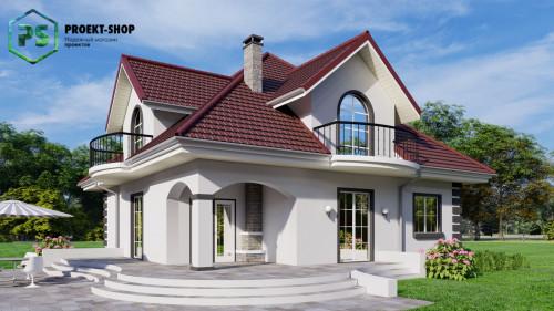 Типовой проект жилого дома Z18 + проект бани в ПОДАРОК! - Скидка -32%