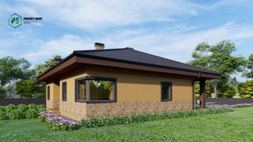 Типовой проект жилого дома Z24  + проект бани в ПОДАРОК! - Скидка -32%