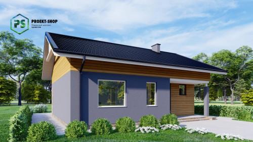 Типовой проект жилого дома Z78 + проект бани в ПОДАРОК! - Скидка -32%