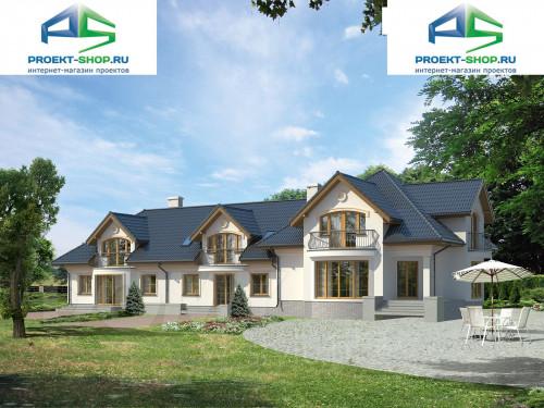 Типовой проект жилого дома на две семьи1-130
