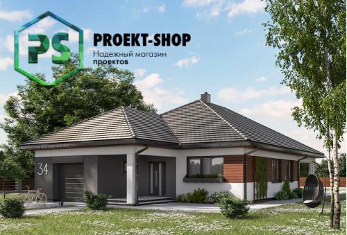 Типовой проект жилого дома 4-1696