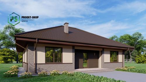 Проект одноэтажного дома z10