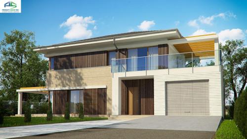 Типовой проект жилого дома zx63 b +