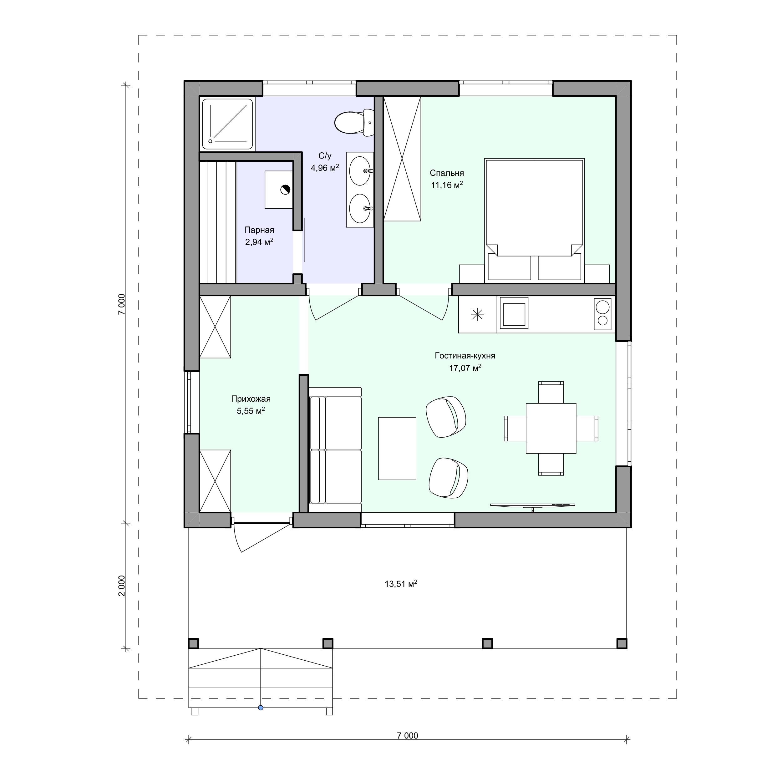 Планировка проекта 2-166
