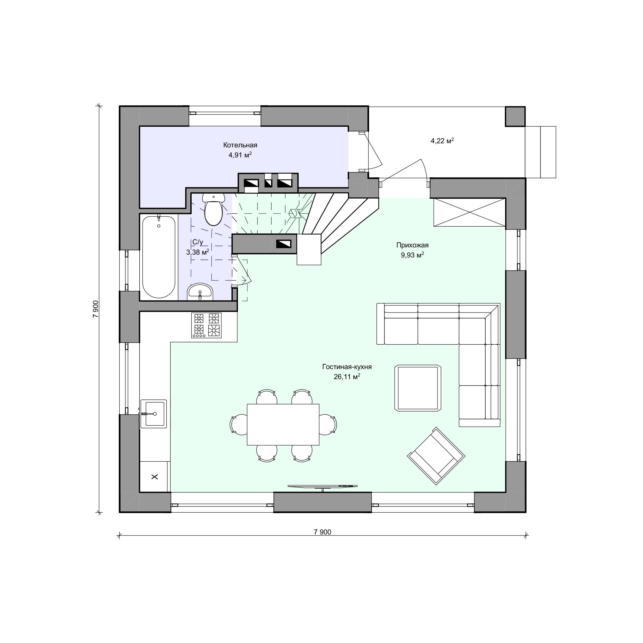 Планировка проекта 2-167