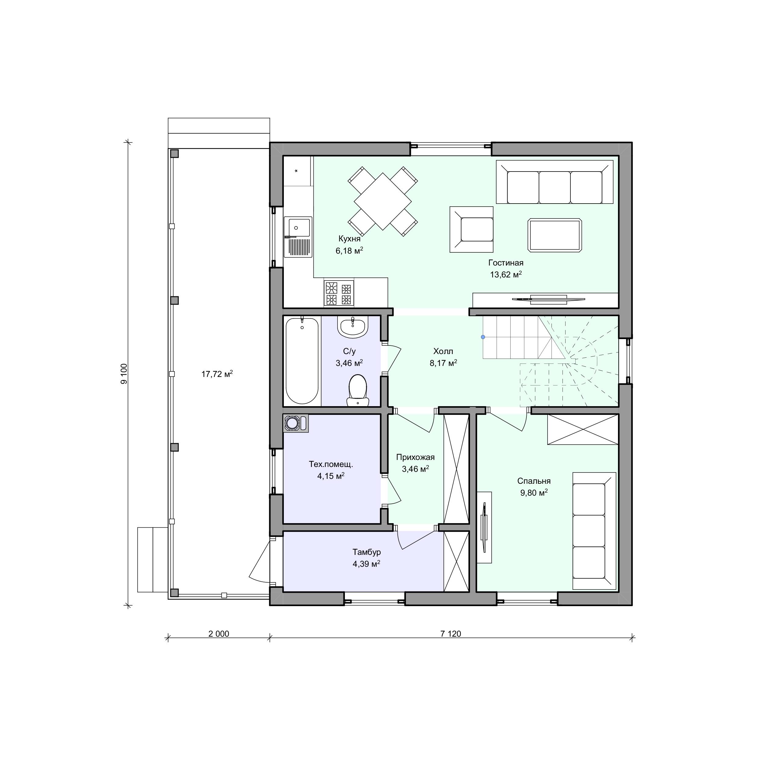 Планировка проекта 2-168