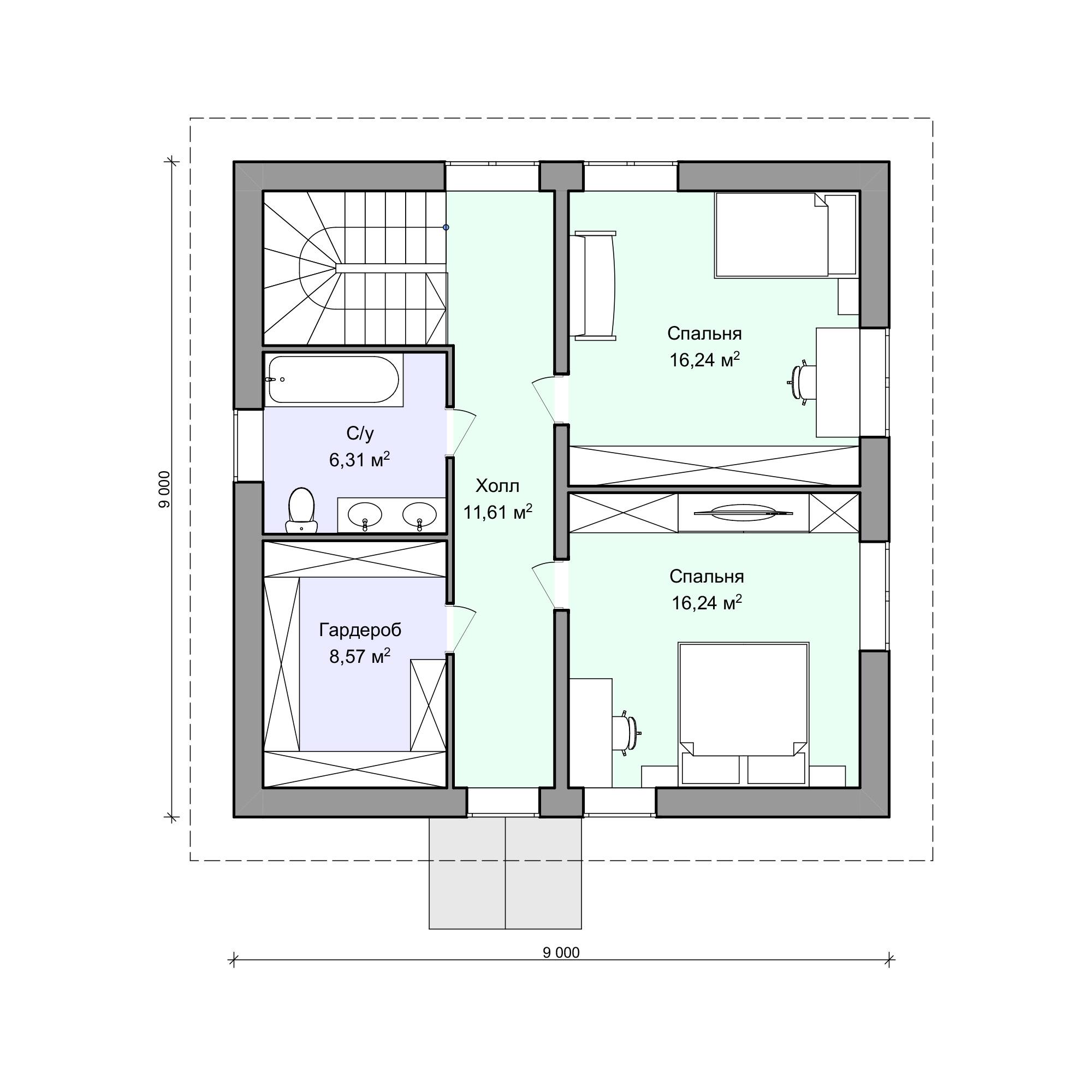Планировка проекта 2-180