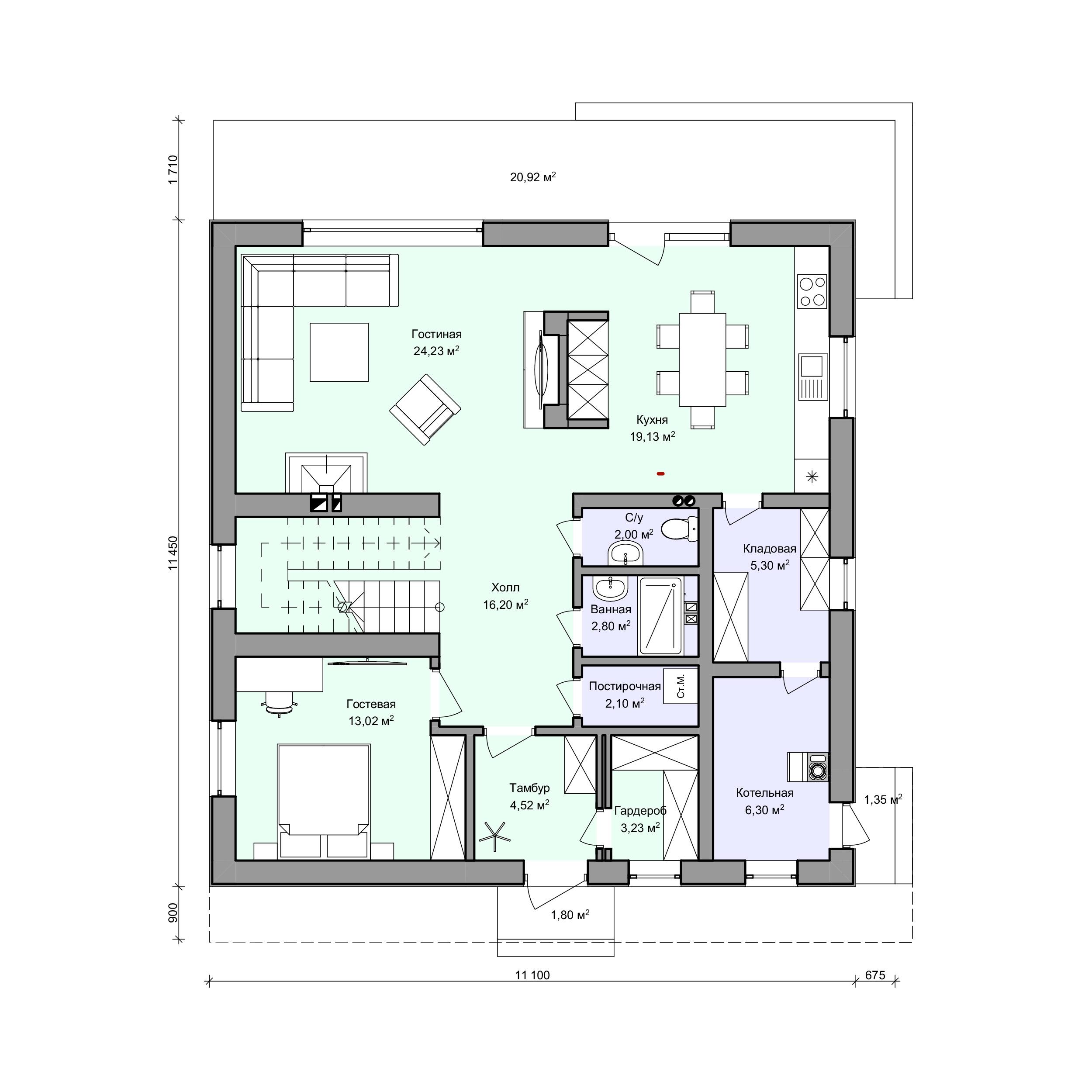 Планировка проекта 2-182