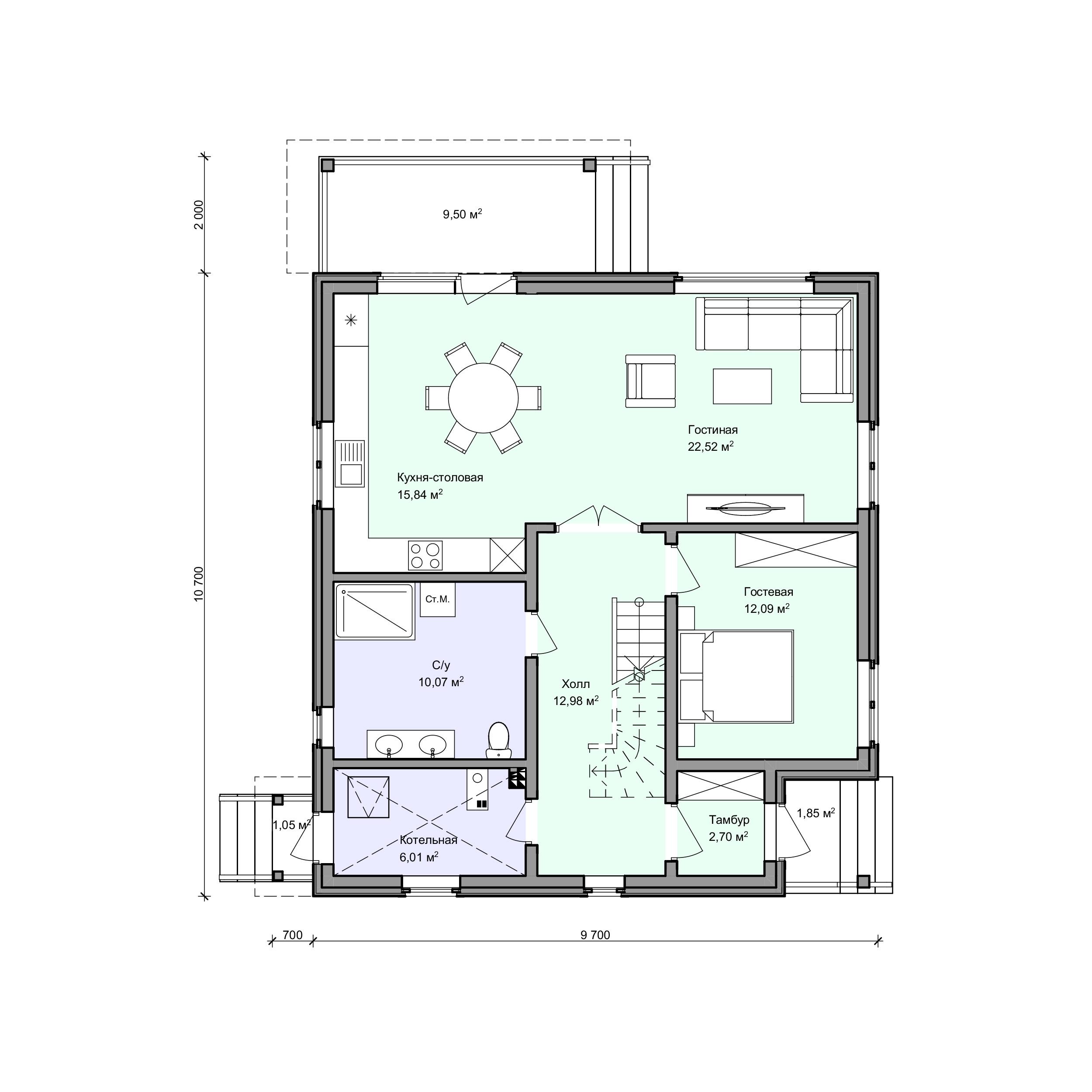 Планировка проекта 2-201