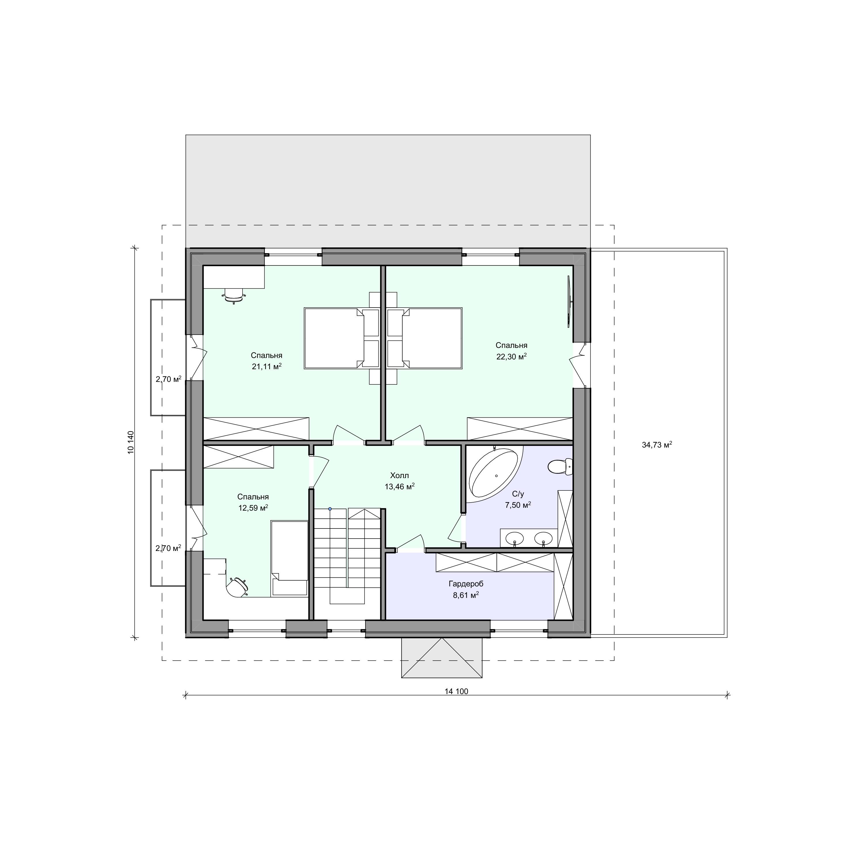 Планировка проекта 2-210