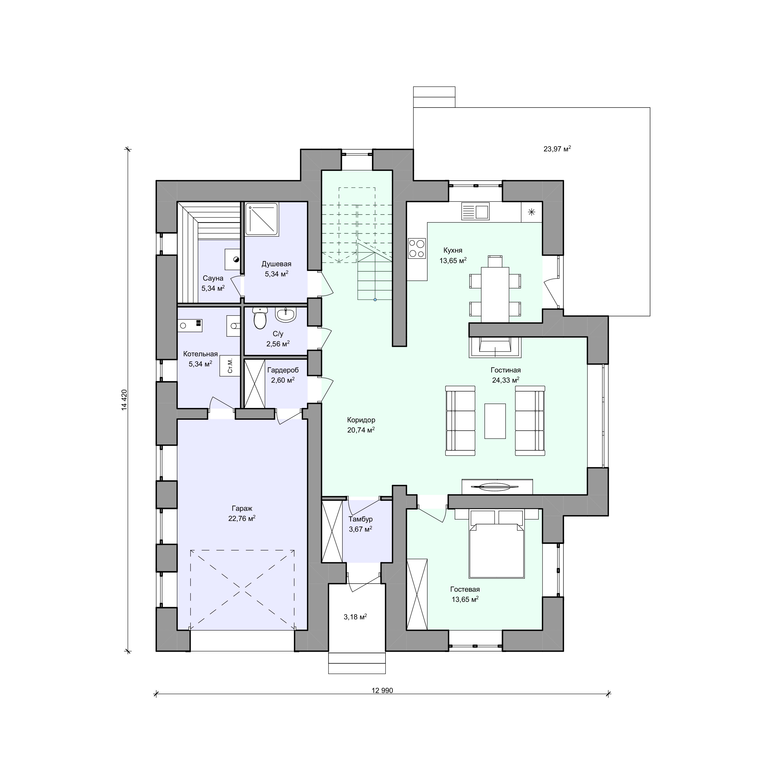 Планировка проекта 2-66