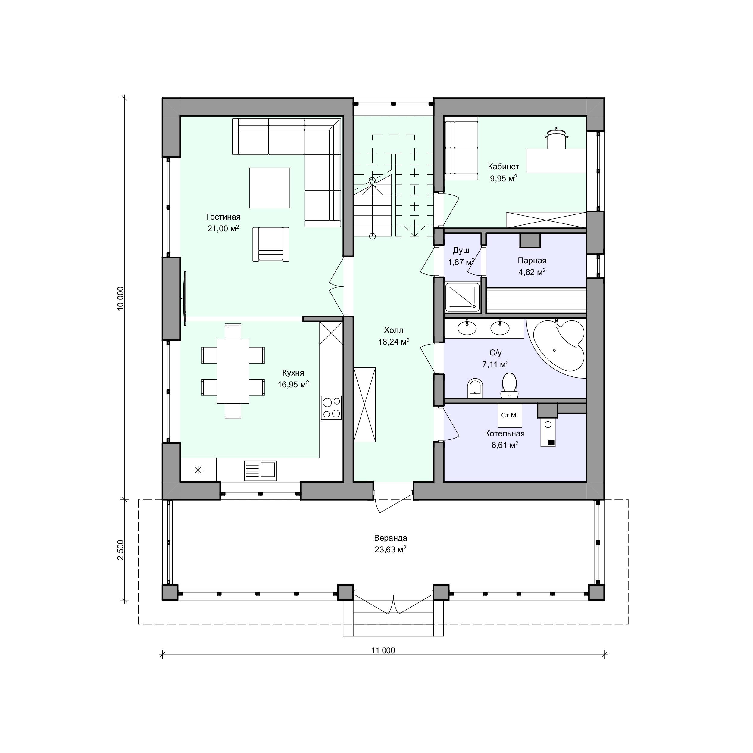 Планировка проекта 2-73