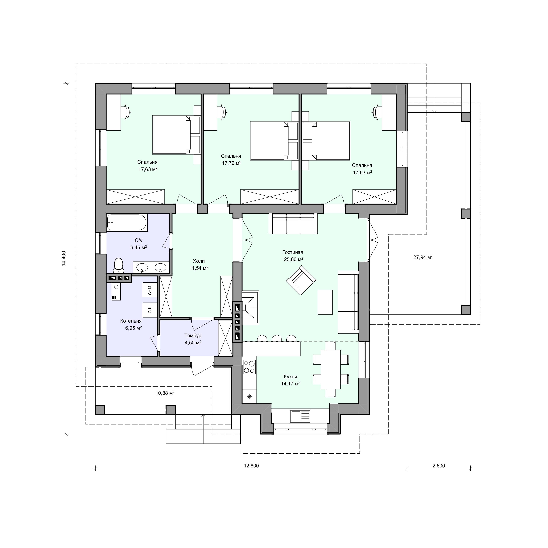 Планировка проекта 2-90