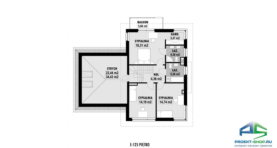 Планировка проекта E125