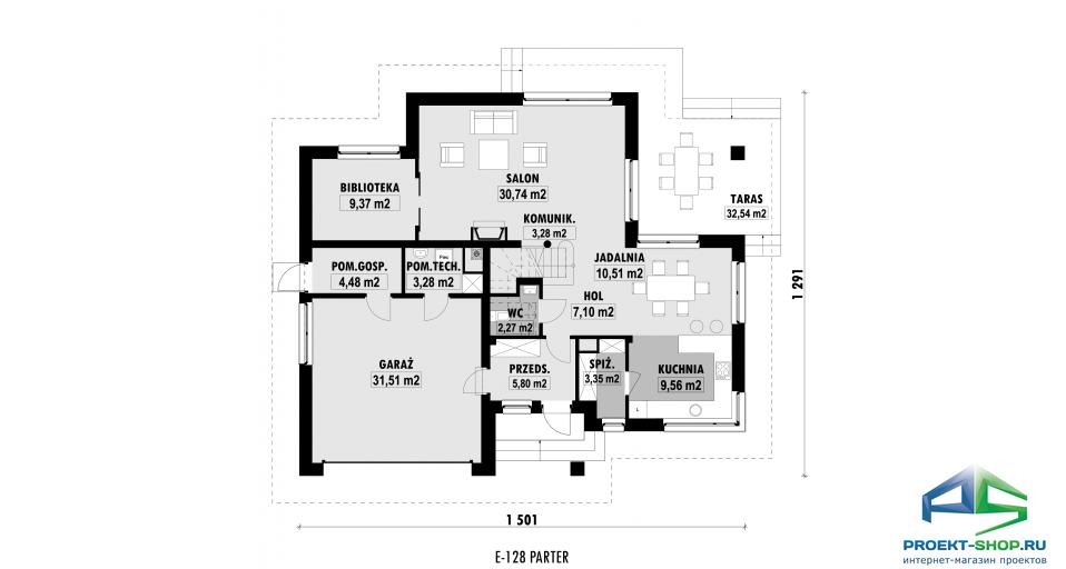 Планировка проекта E128