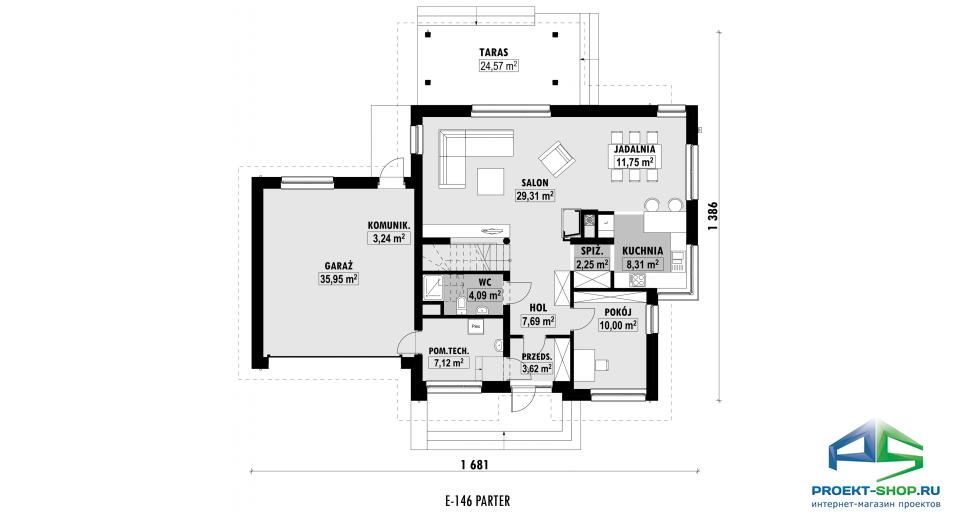 Планировка проекта E146