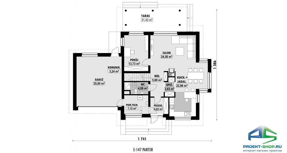 Планировка проекта E147