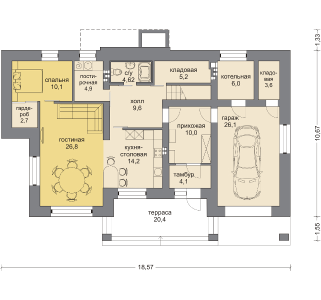 Планировка проекта 5-284