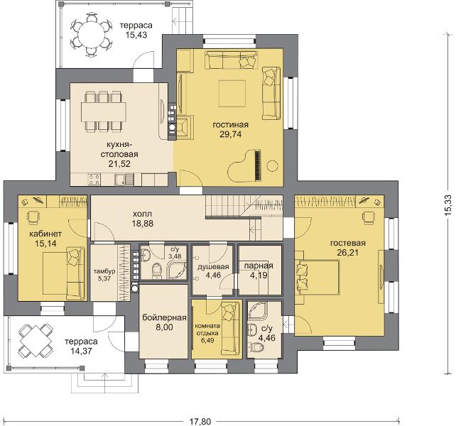 Планировка проекта 5-287
