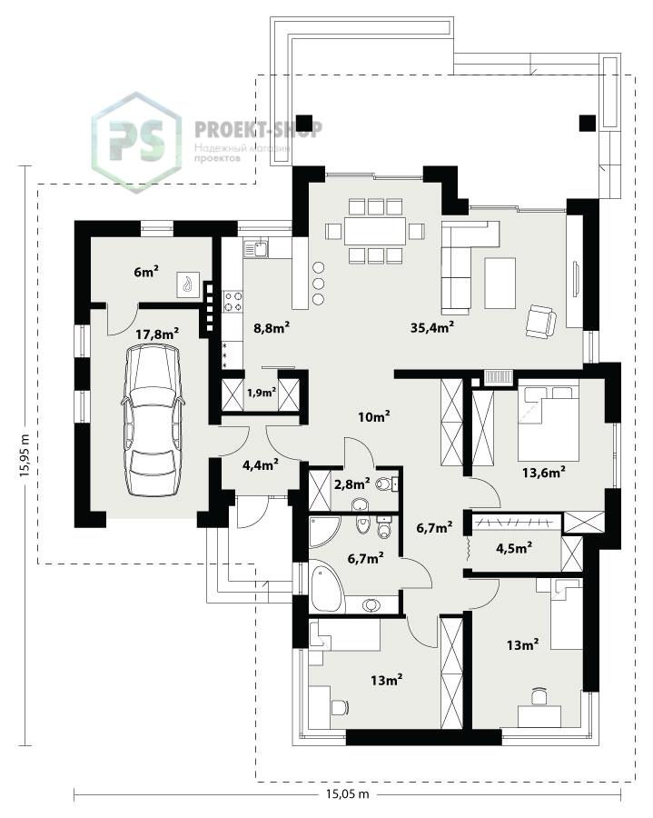 Планировка проекта 6-155